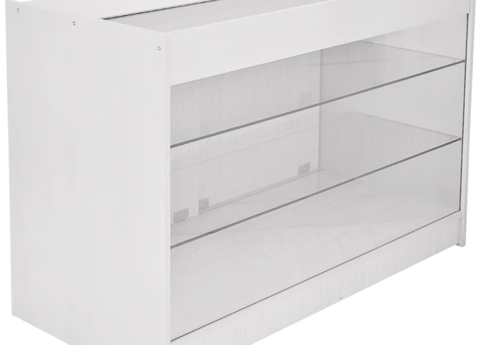 K1200 Retail Product Display Cabinet - Brilliant White - 1