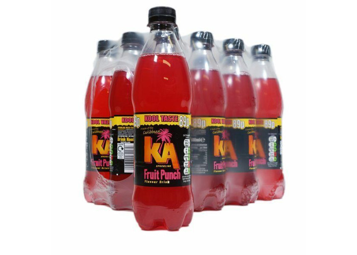 KA SPARKLING FRUIT PUNCH Fizzy Drink  12 X 500ML BOTTLES - 1