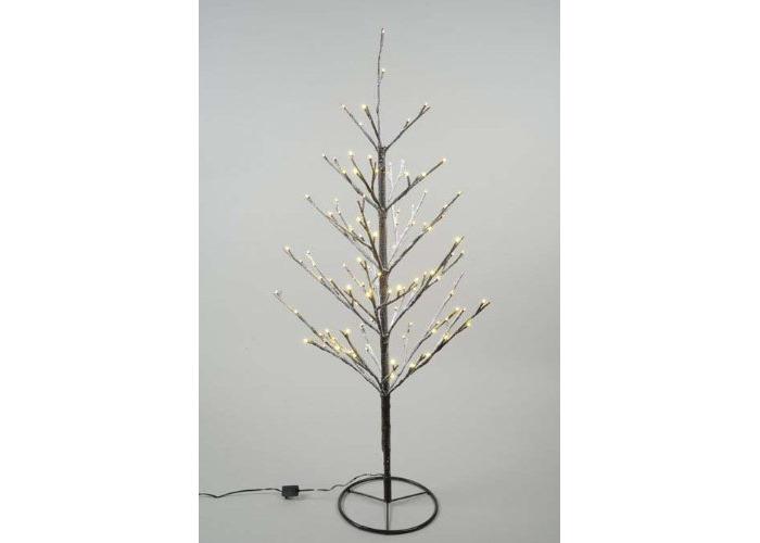 Kaemingk Outdoor LED Mini Xmas Tree Warm White with Snow 90cm 120 Lights - 1