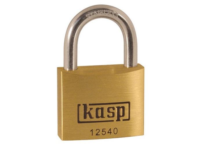 Kasp K12540SD Premium Brass Padlock 40mm Stainless Steel Shackle - 1