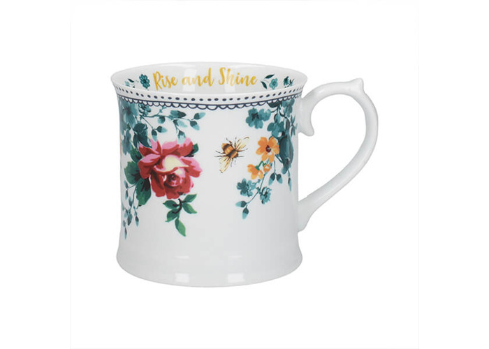 Katie Alice Bohemian Spirit Floral Slogan Tankard Mug - 1