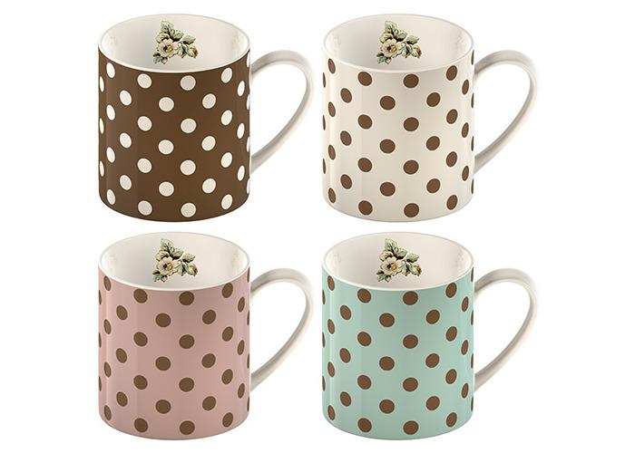 Katie Alice Cottage Flower Set Of 4 Spot Mugs - 1