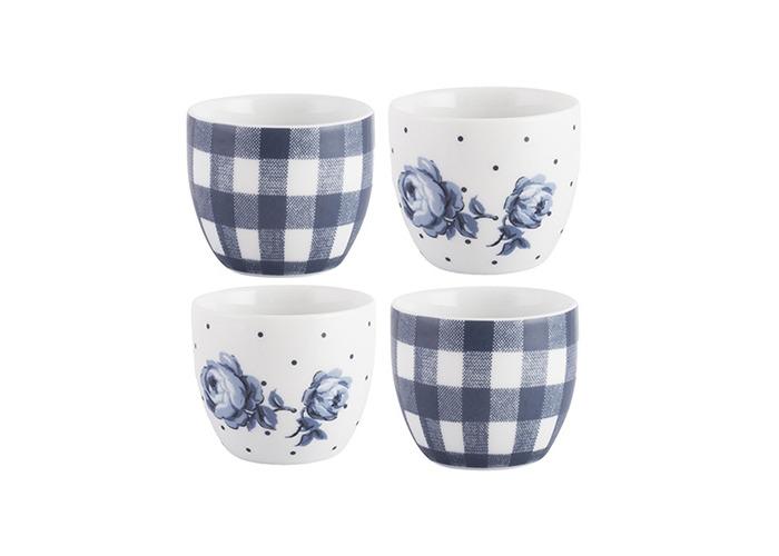 """Katie Alice """"Vintage Indigo"""" Egg Cups, Blue, 4-Piece - 1"""