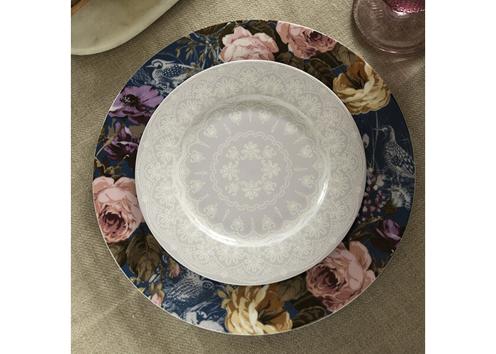 Katie Alice Wild Apricity Lace Grey Side Plate - 2