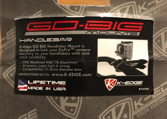 K-EDGE  GO BIG GOPRO HANDLEBAR MOUNT - 2