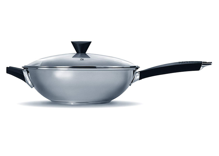 Ken Hom KH232022 Performance Range Wok Set With Lid, 2-Piece Set - Stainless Steel - 2