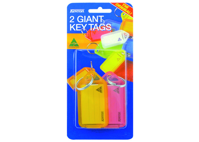 KEVRON ID30 Giant Tags Blister Pack 4 pcs Assorted Colours - 2 pcs - 1