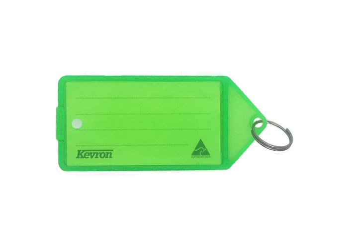 KEVRON ID35 Big Tags Bag of 12 - Flo Green x 12  - 1