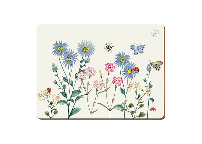 "Kew Gardens ""Meadow Bugs Premium"" Mats, Multi-Colour, 6-Piece - 1"