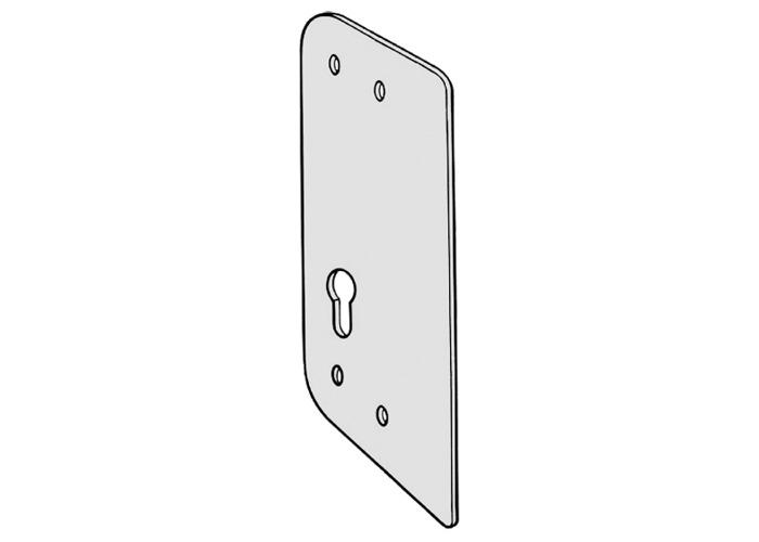 KICKSTOP AT1 Anti-Thrust Plate To Suit Deadlocks - AT1 EU Euro Keyway Satin Silver - 1