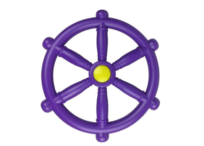Kids Climbing Frame Accessory Purple Toy Bundle With a FREE Pirate Flag  - 2