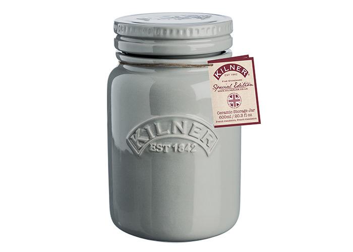 Kilner Ceramic Storage Jars Morning Mist 0.6 Litre - Airtight Ceramic Kilner Jars for Food Storage - 2