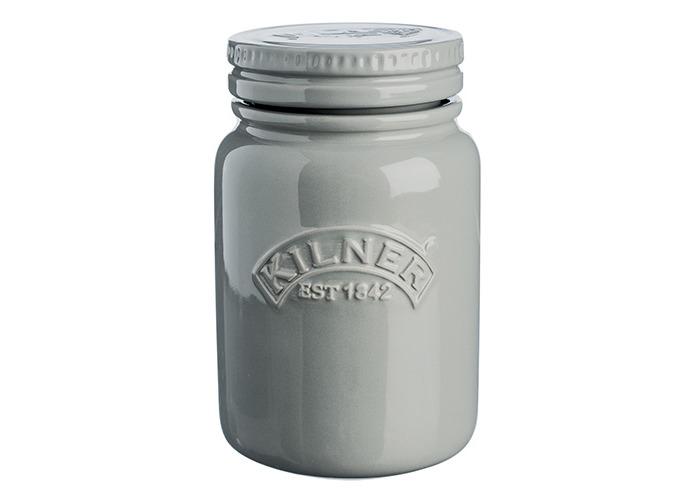 Kilner Ceramic Storage Jars Morning Mist 0.6 Litre - Airtight Ceramic Kilner Jars for Food Storage - 1