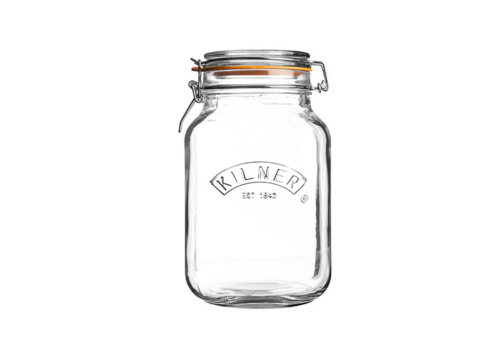 Kilner Clip Top Jar Square 1.5 Litre - 1