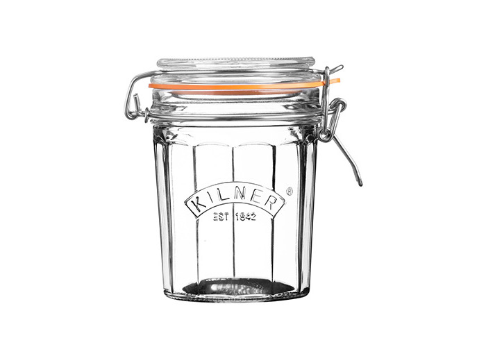 Kilner Facetted Clip Top Jar, Clear, 0.45 Litre - 1