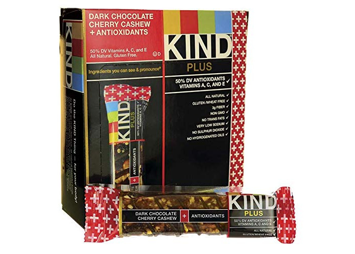 Kind Bar - Plus Antioxidant Nutrition Bars Box Dark Chocolate Cherry Cashew - 12 Bars - 1