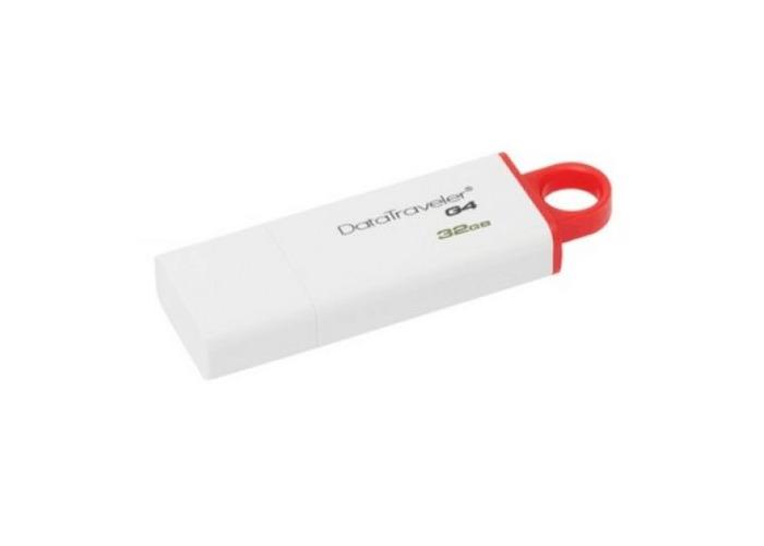 Kingston 32GB USB 3.0 Memory Pen, DataTraveler G4, White/Red, Lid - 1