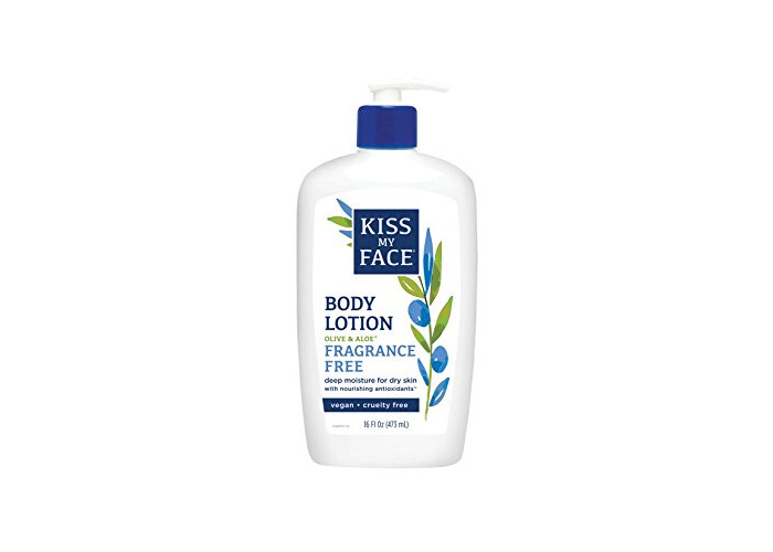 Kiss My Face Sensitive Skin Natural Moisturizer with Olive Oil & Aloe Vera 16 oz - 1