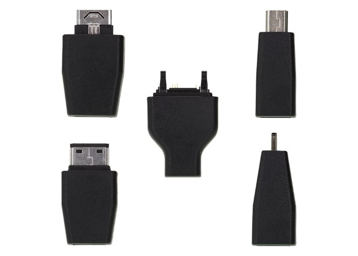 Kit Universal Micro USB Female Adapter with 7x Tips - Black - 1