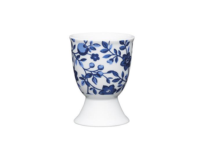 Kitchen Craft - Porcelain Egg Cup - Traditional Blue Floral - 1