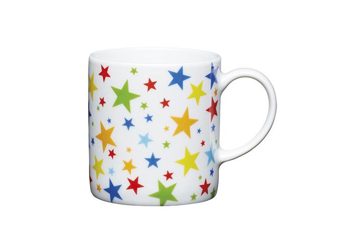 Kitchen Craft - Porcelain Espresso Mug - Multi Stars - 80ml - 1