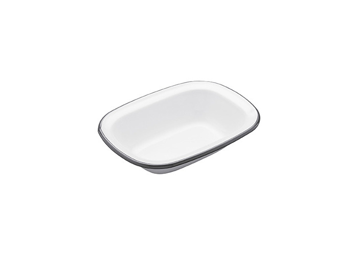 Kitchen Craft 18 x 13.5 x 4 cm Living Nostalgia Enamel Oblong Pie Dish - 1