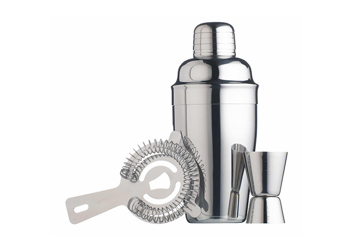 Kitchen Craft 3-Piece Bar Craft Stainless Steel Cocktail Set - 1