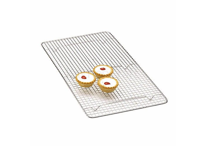 Kitchen Craft Chrome Plated Deluxe Oblong Cake Cooling Tray 46cm x 25cm - 1