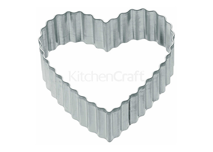 Kitchen Craft Cookie Cutter - Medium Fluted Heart, 6 cm - 1