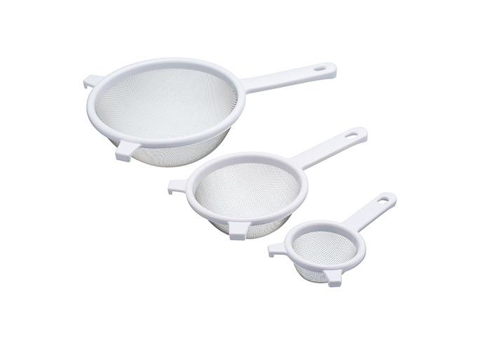Kitchen Craft Fine Mesh Plastic Sieve Set (3 Pieces) - 1