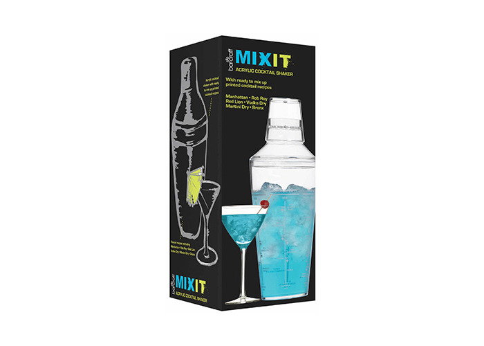 Kitchen Craft KCBCSHAKACR 700 ml Mix It Acrylic Cocktail Shaker in Gift Box - 2