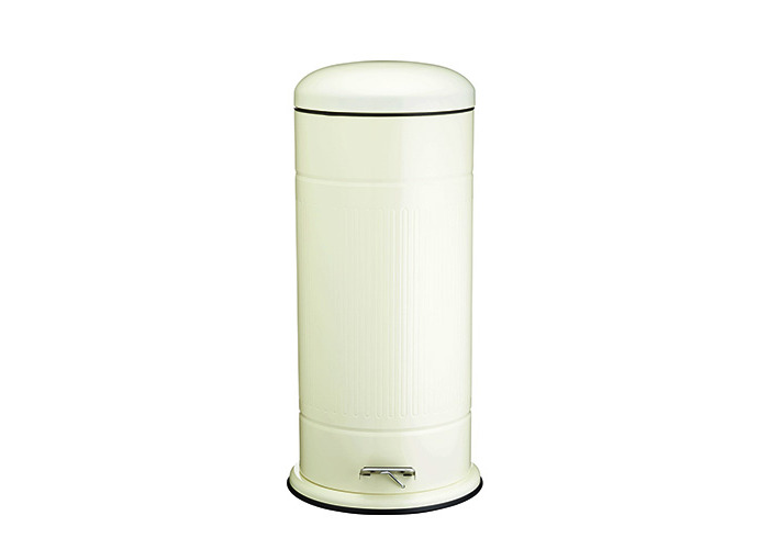 Kitchen Craft Living Nostalgia Retro Pedal Bin, 30 Litres - Antique Cream - 1