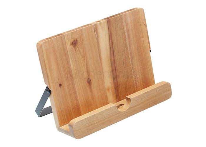 Kitchen Craft Natural Elements Acacia Wood Cookbook / Tablet Stan - 1