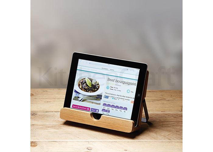 Kitchen Craft Natural Elements Acacia Wood Cookbook / Tablet Stan - 2