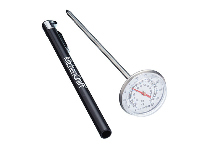 Kitchen Craft Stainless Steel Meat Thermometer with Protective Sheath - 1