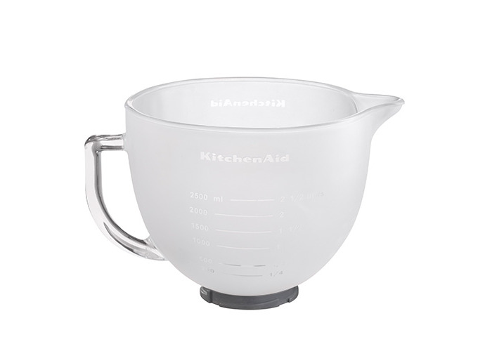 KitchenAid Artisan 4.8 Litre Frosted Glass Bowl with Lid - 1