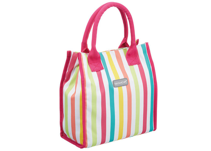 KitchenCraft 4 Litre Multi Stripes Lunch And Snack Cool Bag - 1