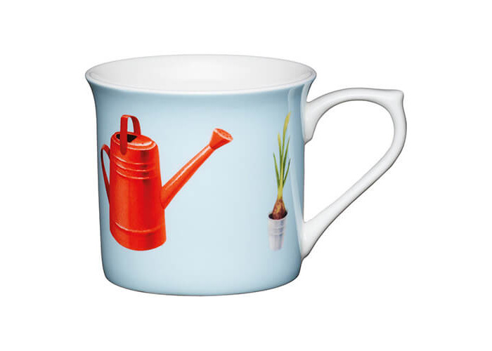 KitchenCraft China 300ml Fluted Mug, Watering Can - 1