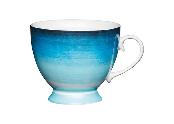 KitchenCraft China 400ml Footed Mug, Ombre Stripe - 1