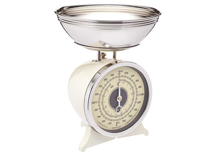 KitchenCraft Cream Enamelled Mechanical Kitchen Scale - 1