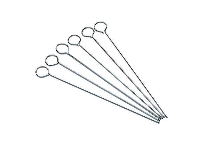 KitchenCraft Flat BBQ Kebab Skewers, 20 cm (Set of 6 Metal Skewer Sticks) - 1