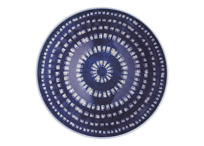 KitchenCraft Glazed Stoneware Bowl Blue Tile - 2