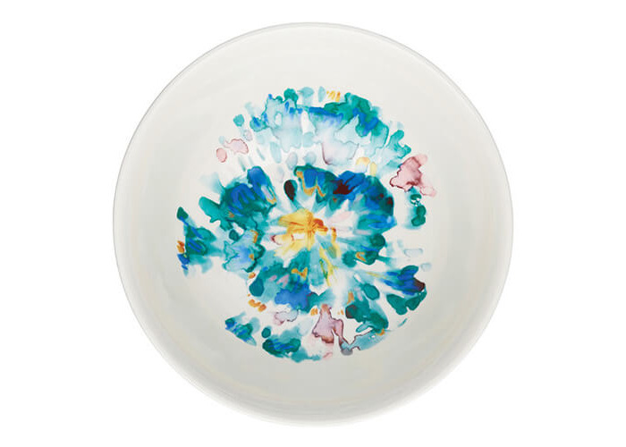 KitchenCraft Glazed Stoneware Bowl Floral Watercolour - 2