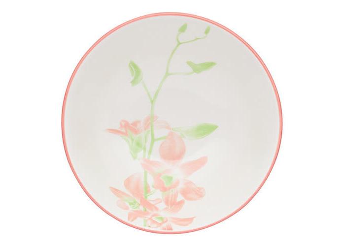 KitchenCraft Glazed Stoneware Bowl Orchid - 2