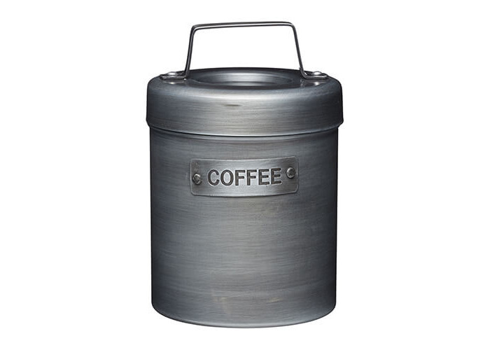 KitchenCraft Industrial Kitchen Vintage-Style Metal Coffee Canister, 1 L (1.75 pts) - 1