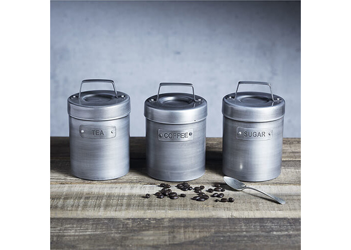 KitchenCraft Industrial Kitchen Vintage-Style Metal Coffee Canister, 1 L (1.75 pts) - 2