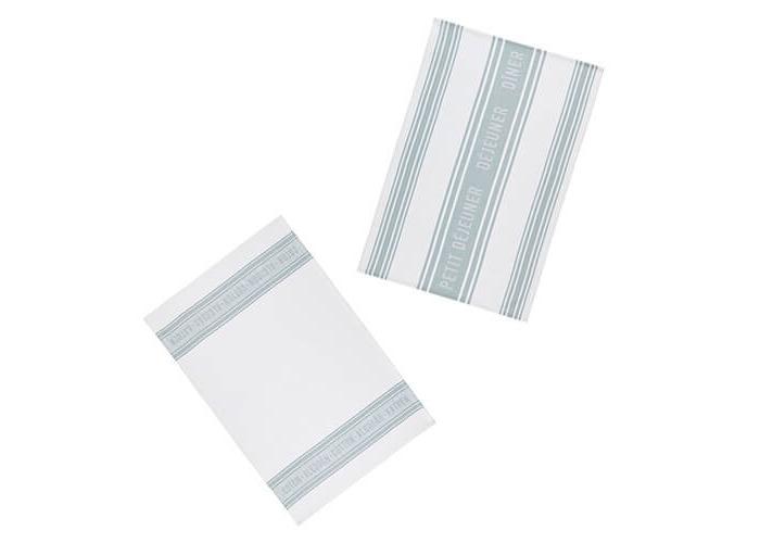 KitchenCraft Jacquard Grey Tea Towels 2 Piece Set - 2