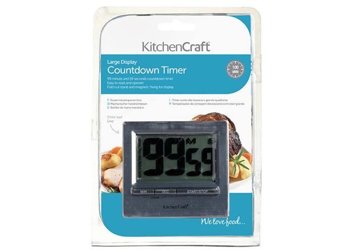 KitchenCraft Large Easy Read Chromed Timer - 2