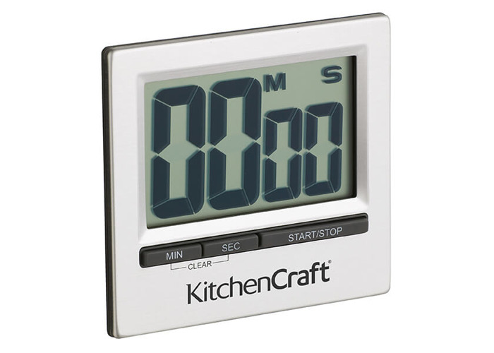 KitchenCraft Large Easy Read Chromed Timer - 1