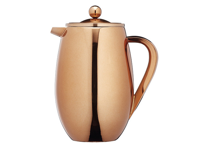 KitchenCraft Le'Xpress 8-Cup Insulated Metal Cafetière, Copper Finish, 1 Litre - 1